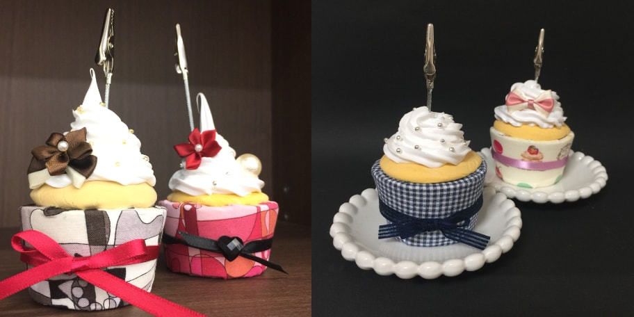フェイクスイーツデコのカップケーキ