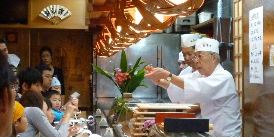 こだわり寿司職人の技を体験
