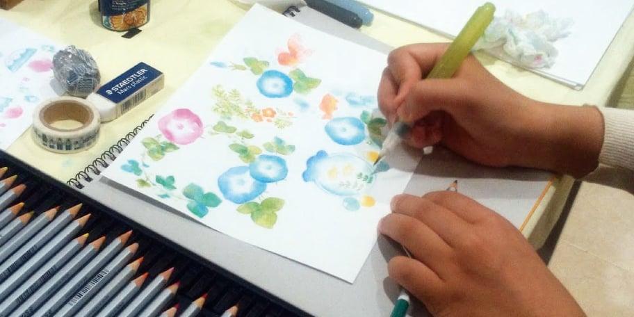 万年筆用インクと色えんぴつで 楽しいぬり絵の世界