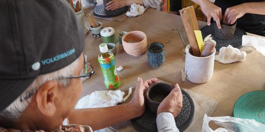 陶芸家 田部井さんの養老焼教室