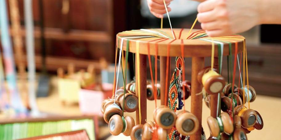 所 鳳弘先生に学ぶ 手づくり組紐